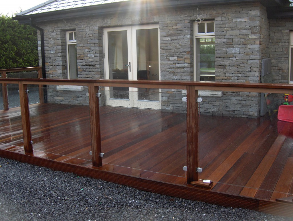 Glass balustrade systems decking